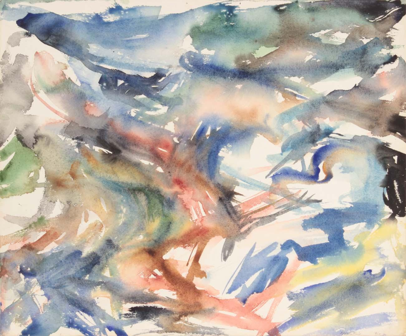 "1954 Montauk #4 Watercolor on Paper 18"" x 21.5"""
