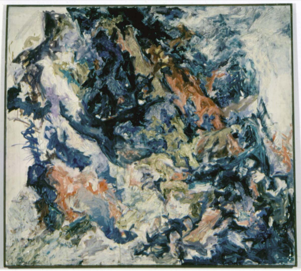 "1954 Mountain Side Oil on Canvas 36"" x 40"""