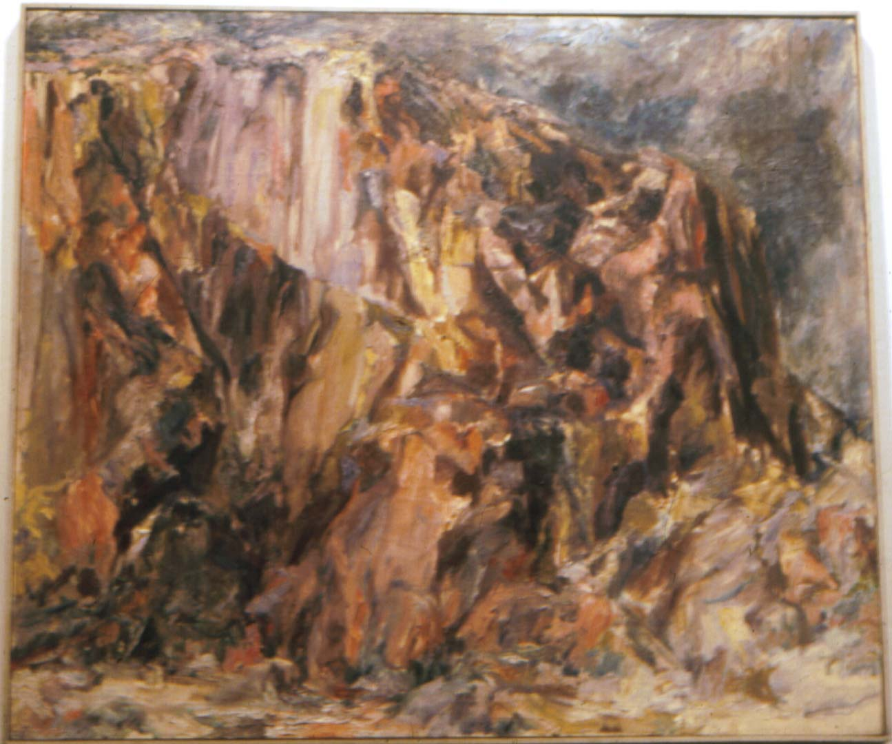 "1956 Butte Landscape Oil on Canvas 36"" x 44"""