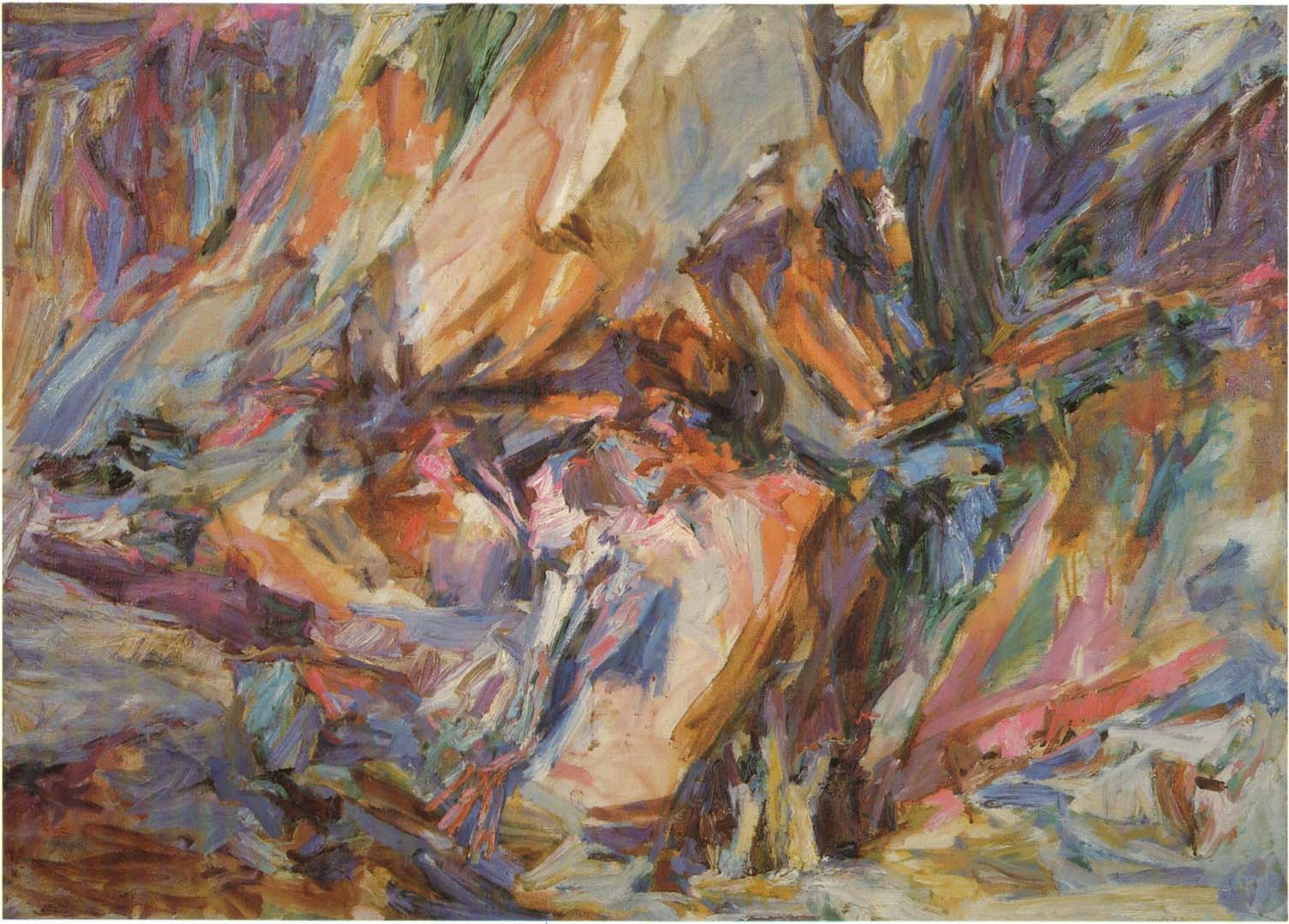 "1955 Fractured Rock Oil on Canvas 36"" x 50"""