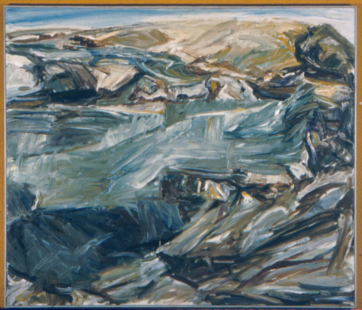 "1955 Landscape at Dawn Oil on Canvas 44"" x 52"""