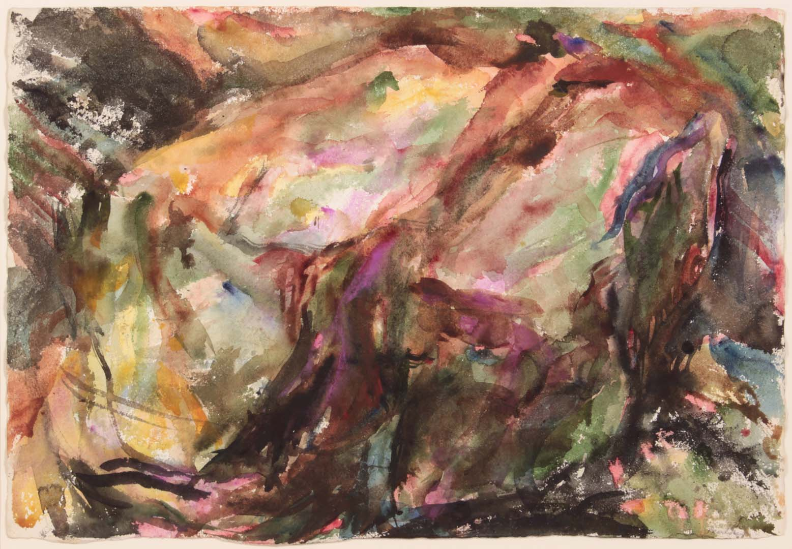 1955 Montauk Rocks #5 Watercolor on Paper 15.125 x 22