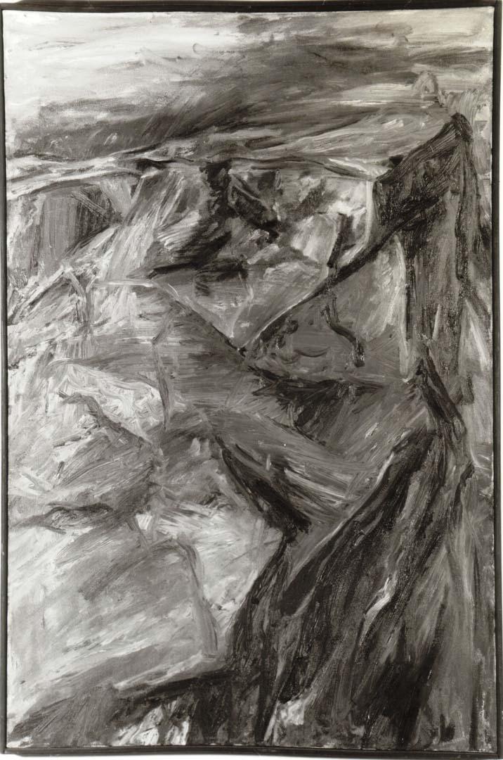 "1955 Moonlit Mountain Oil on Canvas 30"" x 20"""