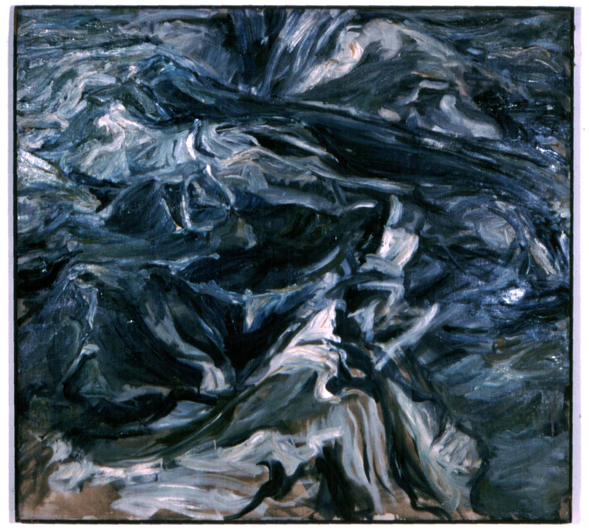 "1956 Waves Oil on Canvas 44"" x 48"""