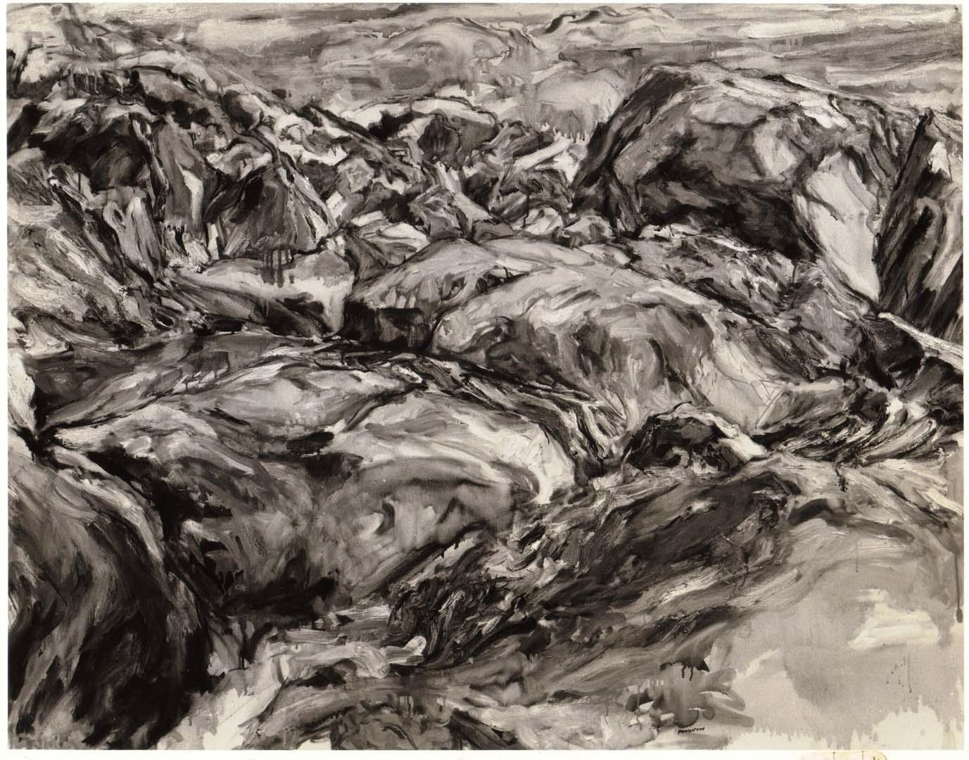 """1957 Seaside Rocks Oil on Canvas 40"""" x 52"""""""