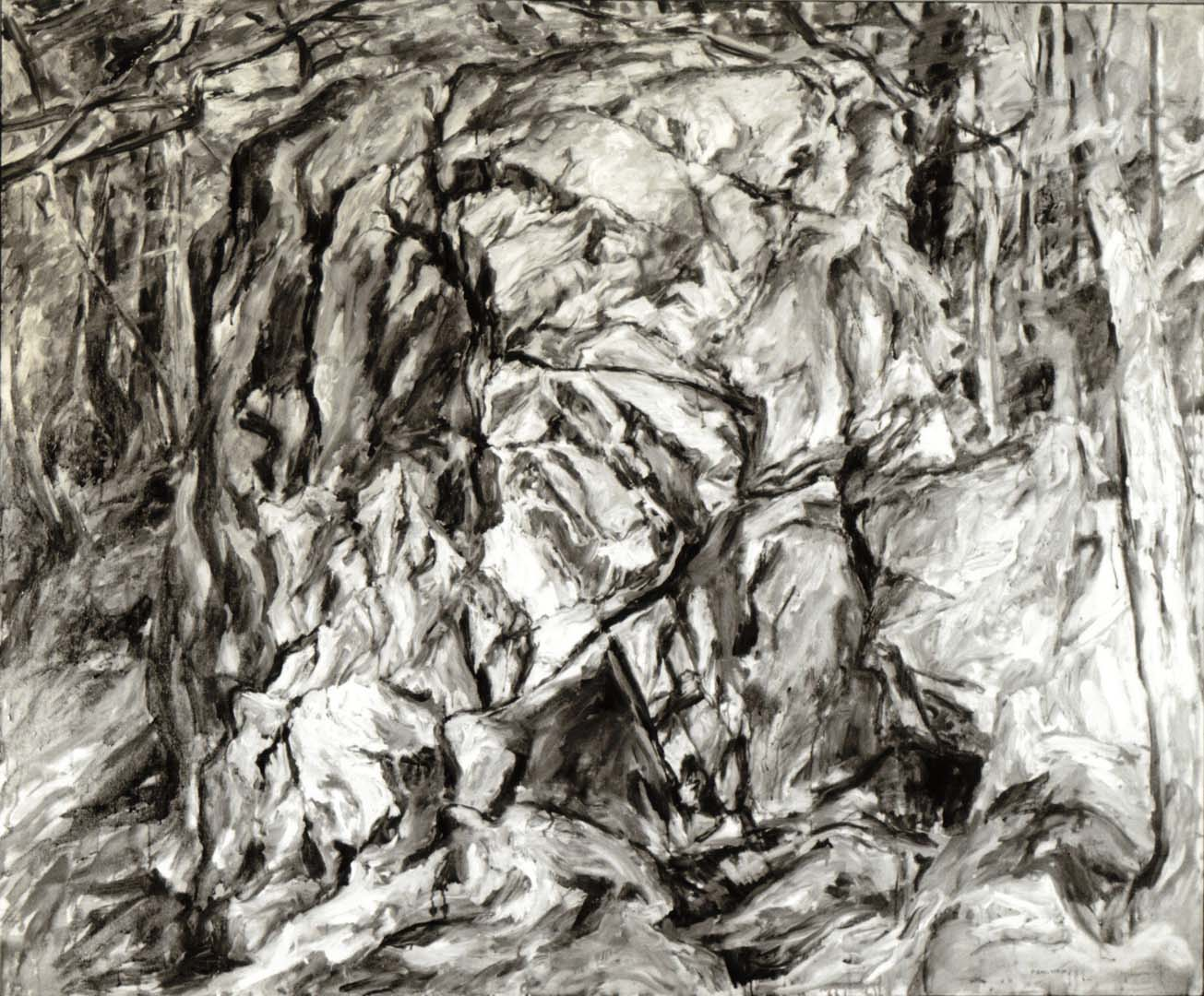 1958 Boulder Oil on Canvas 50 x 60
