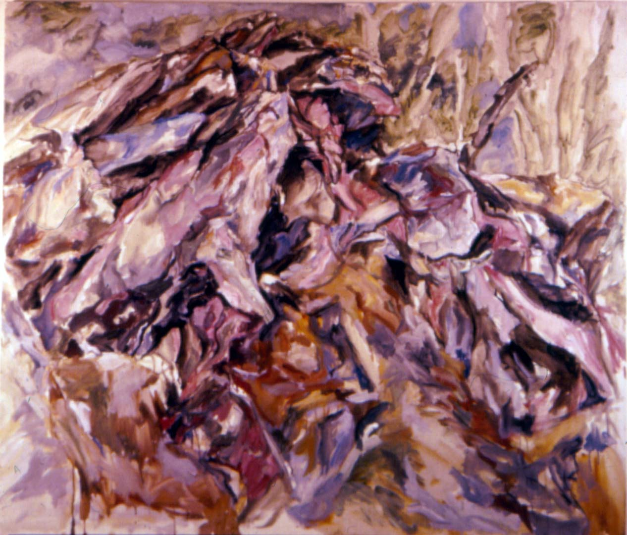 "1958 Rock Mound Oil on Canvas 44"" x 52"""