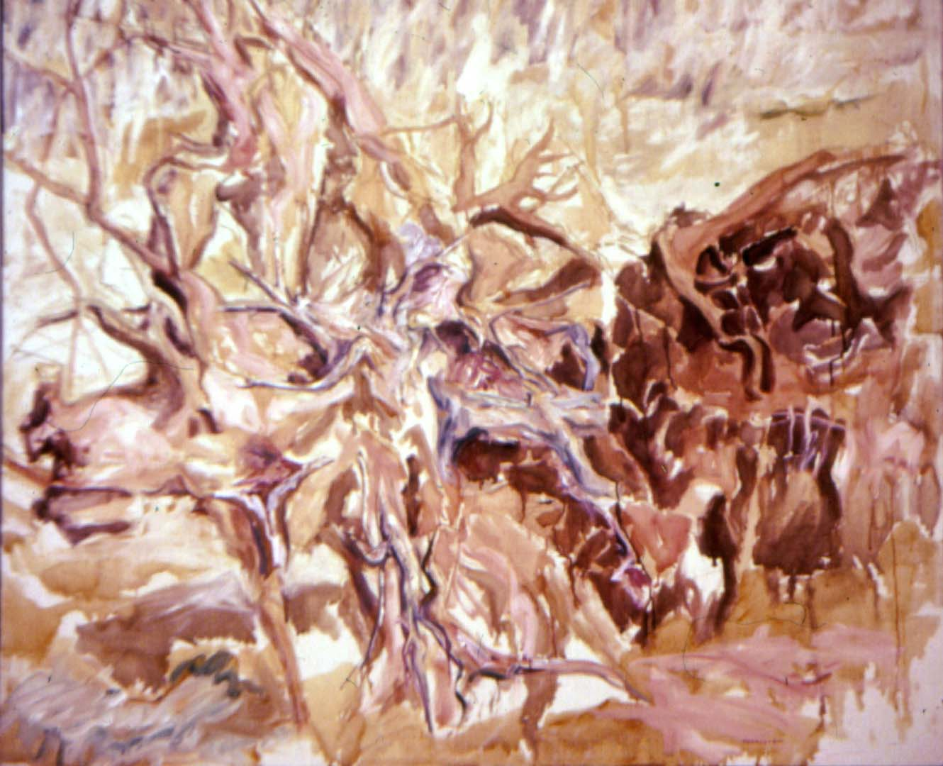 "1958 Tree Roots #1 Oil on Canvas 44"" x 52"""