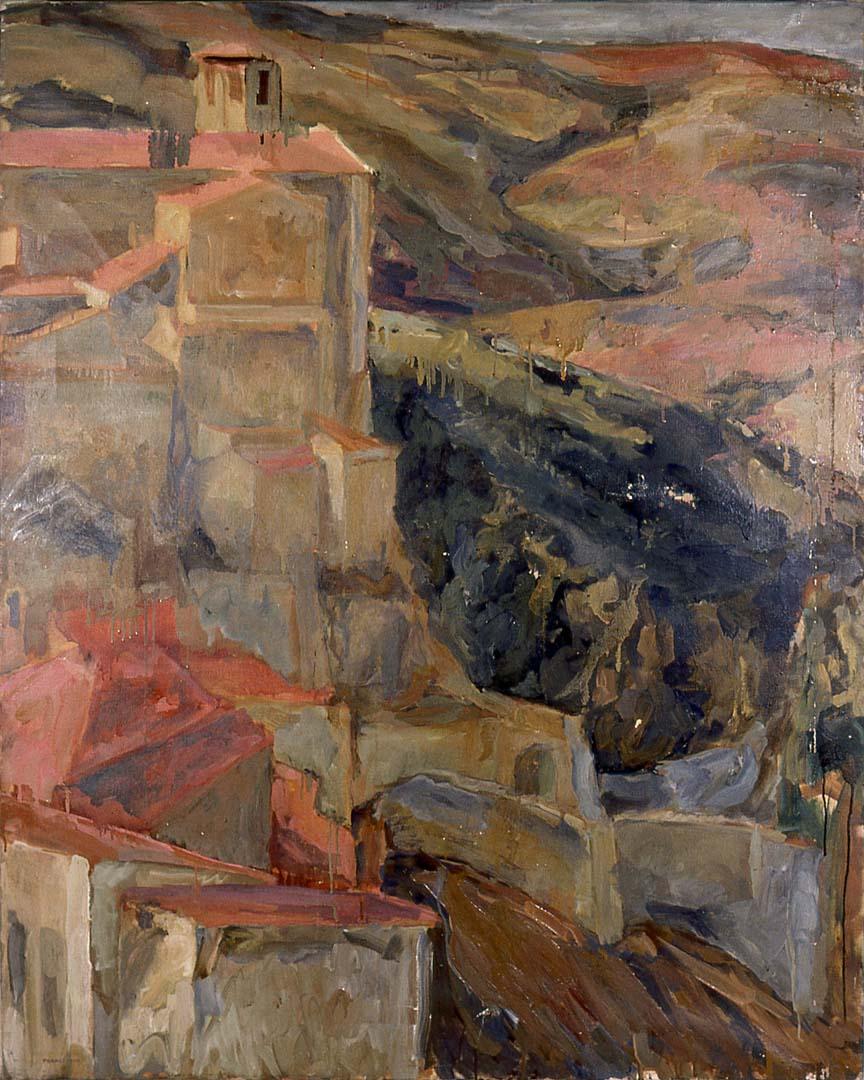 "1958 Umbria Oil on Canvas 48.5"" x 39"""