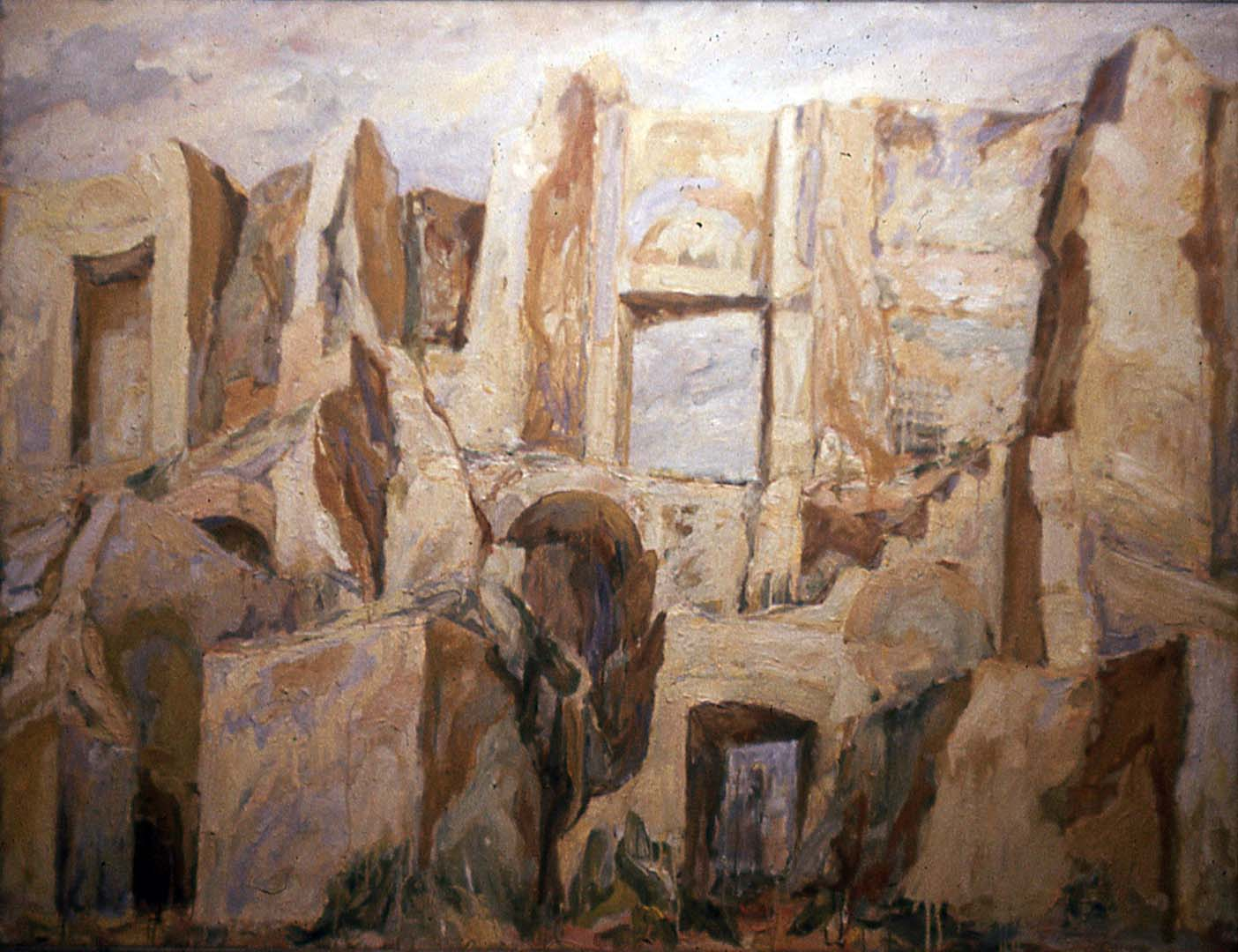 "1959 Imperial Palace Oil on Canvas 52"" x 69"""