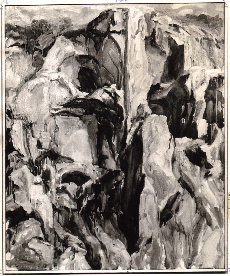 "1959 Palatine #3 Oil on Canvas 44"" x 36"""