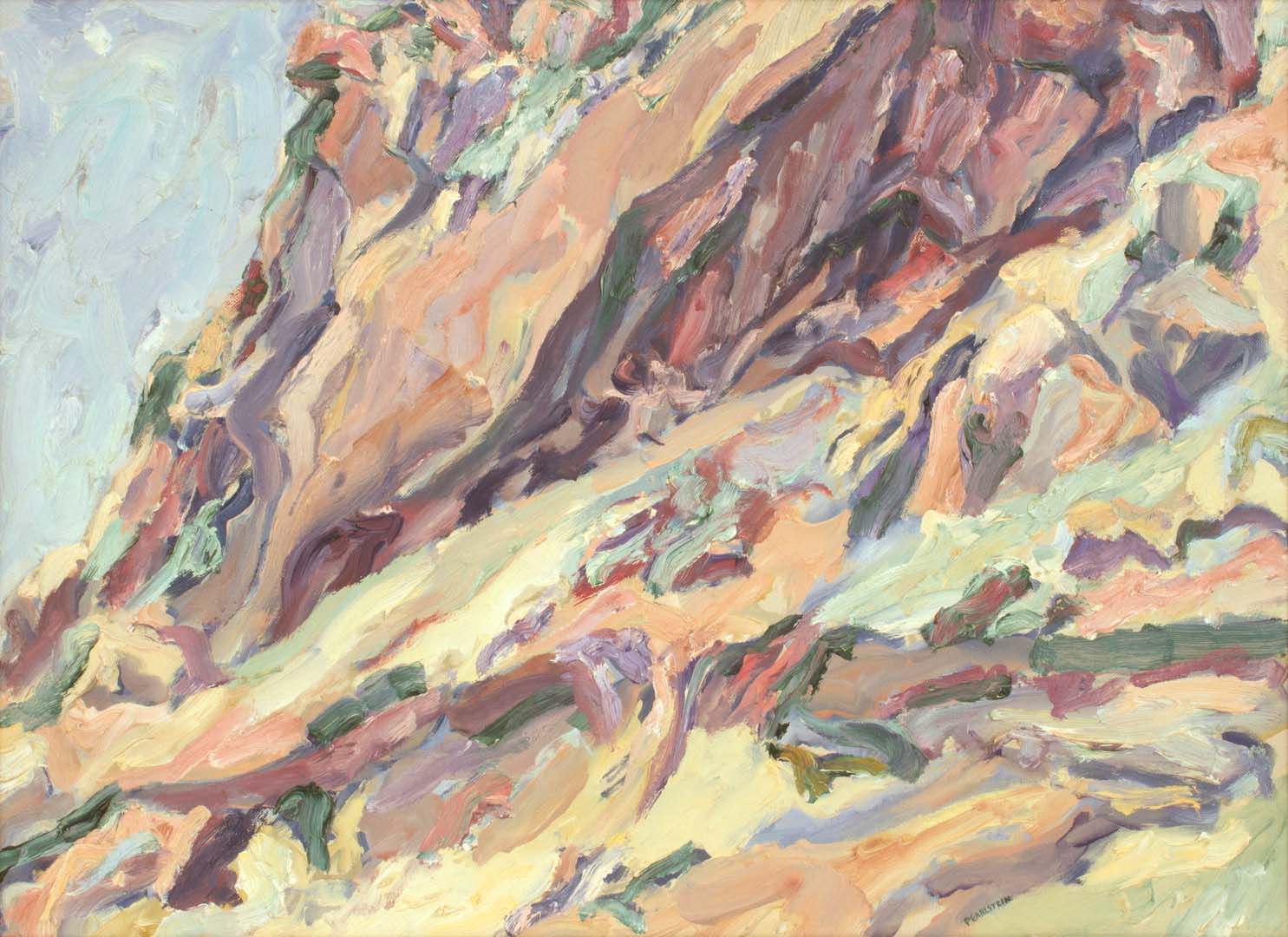 1959 Roman Landscape (Positano Cliff) Oil on Canvas 15.5 x 21.5