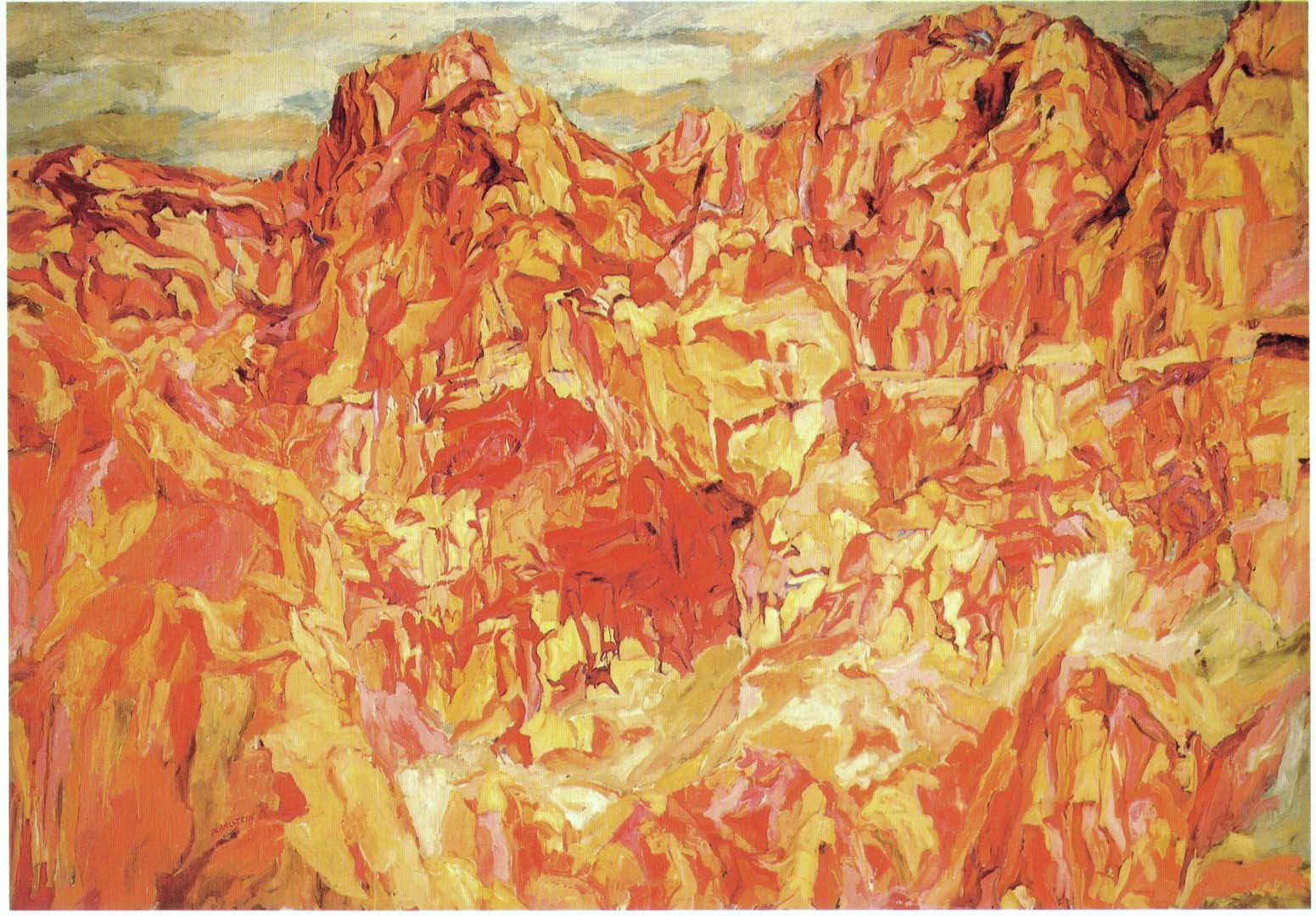 "1960 Positano #2 Oil on Canvas 67"" x 96"""