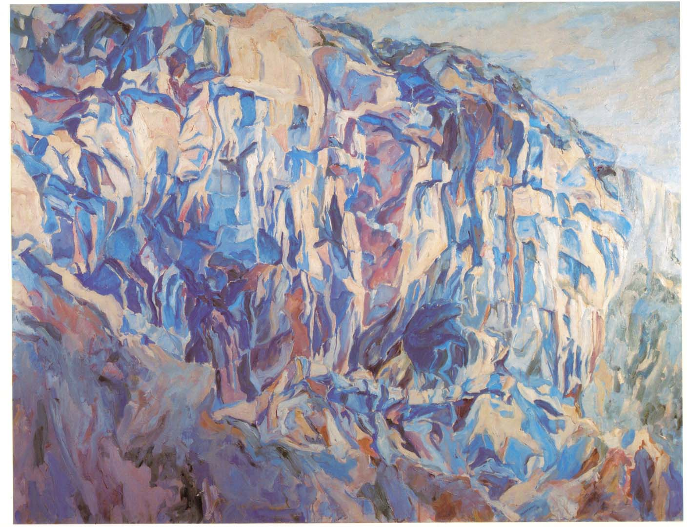 "1961 Cliff Amalfi Oil on Canvas 54"" x 70"""