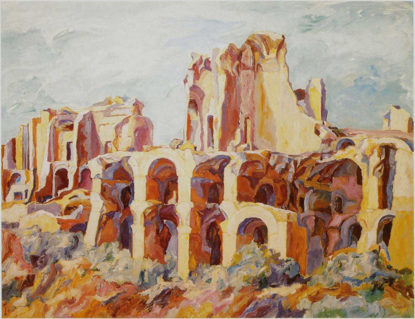 "1961 Palatine Oil on Canvas 54"" x 69"""
