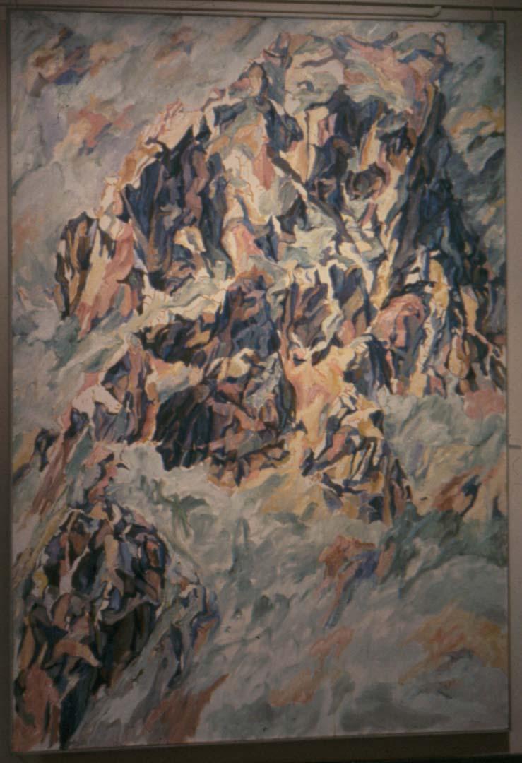 "1961 Positano #3 Oil on Canvas 96"" x 66"""
