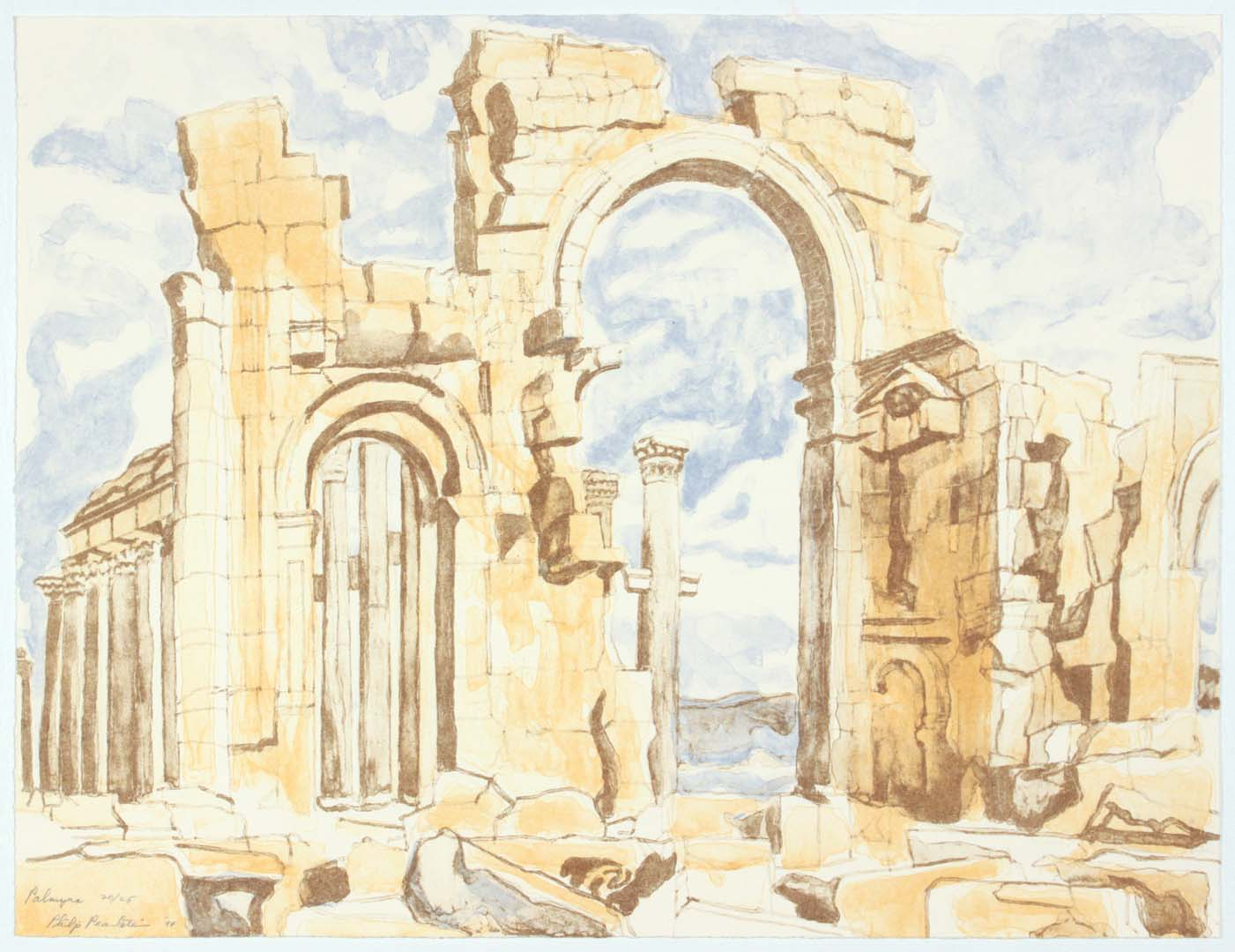 1994 Palmyra Lithograph on Paper 18 x 24