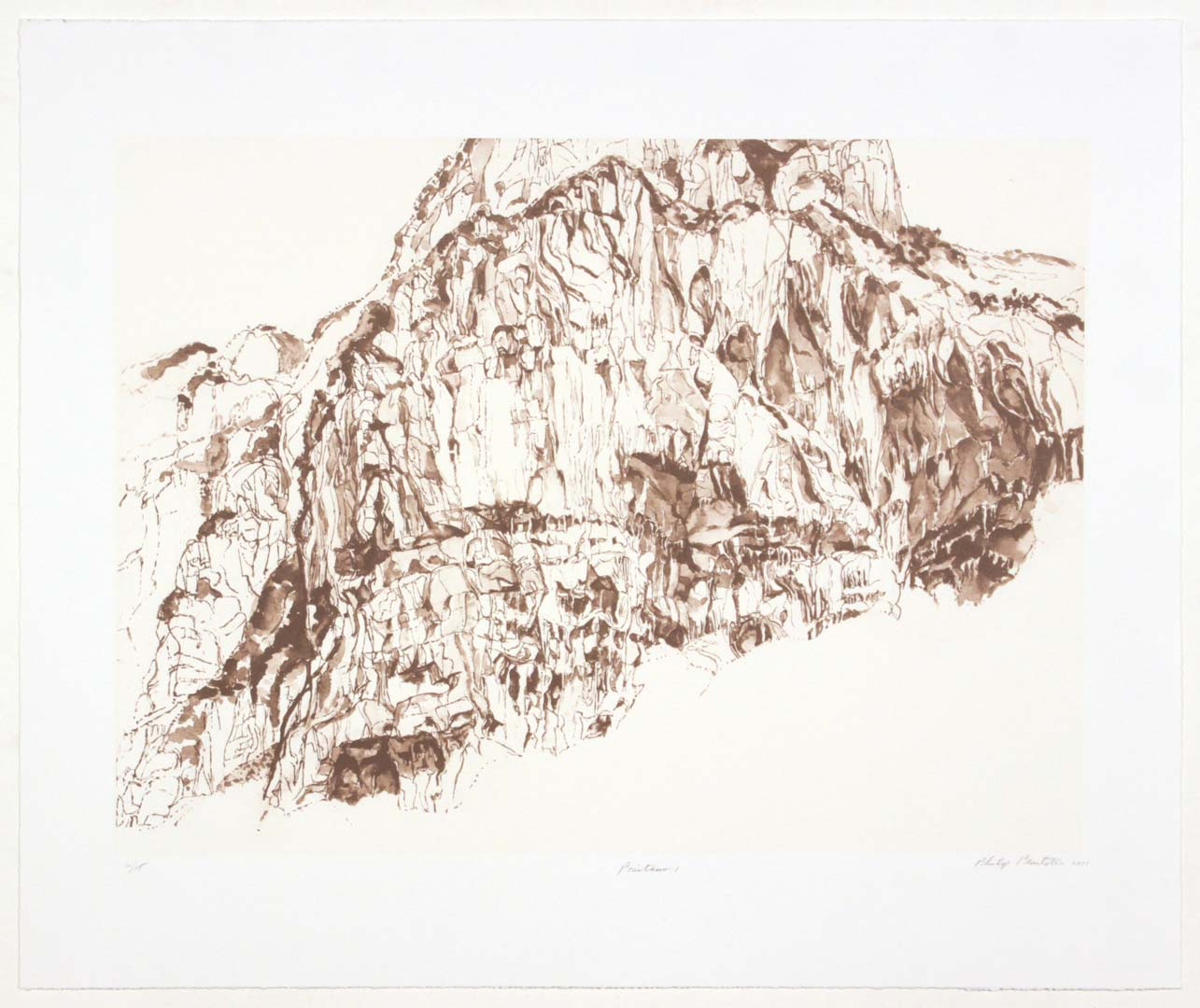 "2011 Positano #1 Lithograph on Paper 20.625"" x 24.625"""