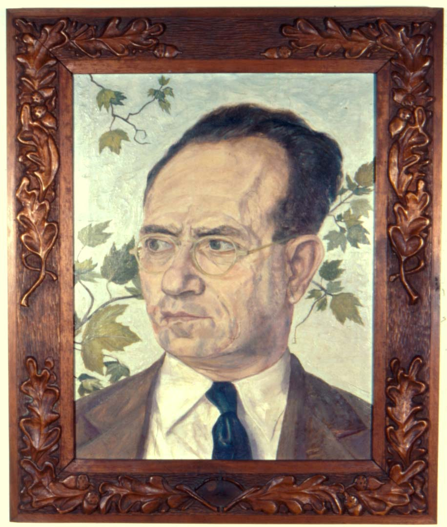 "1946 Portrait of Mr. Pearlstein - Father Oil 17"" x 13"""