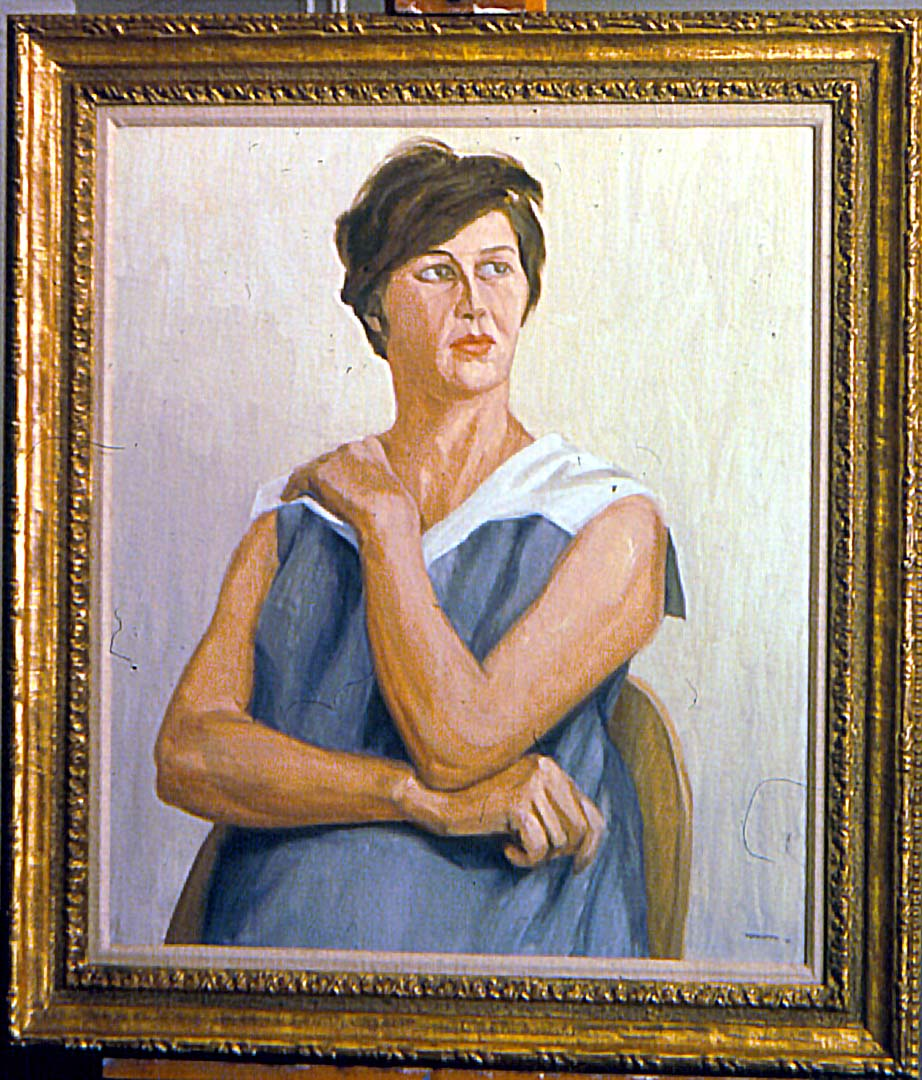 "1963 Portrait of Millie Gitter Oil on canvas 25.5"" x 21.75"""