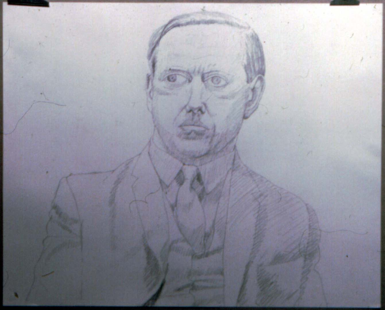 1966 Portrait of Diebold 2 Pencil on paper Dimensions Unknown