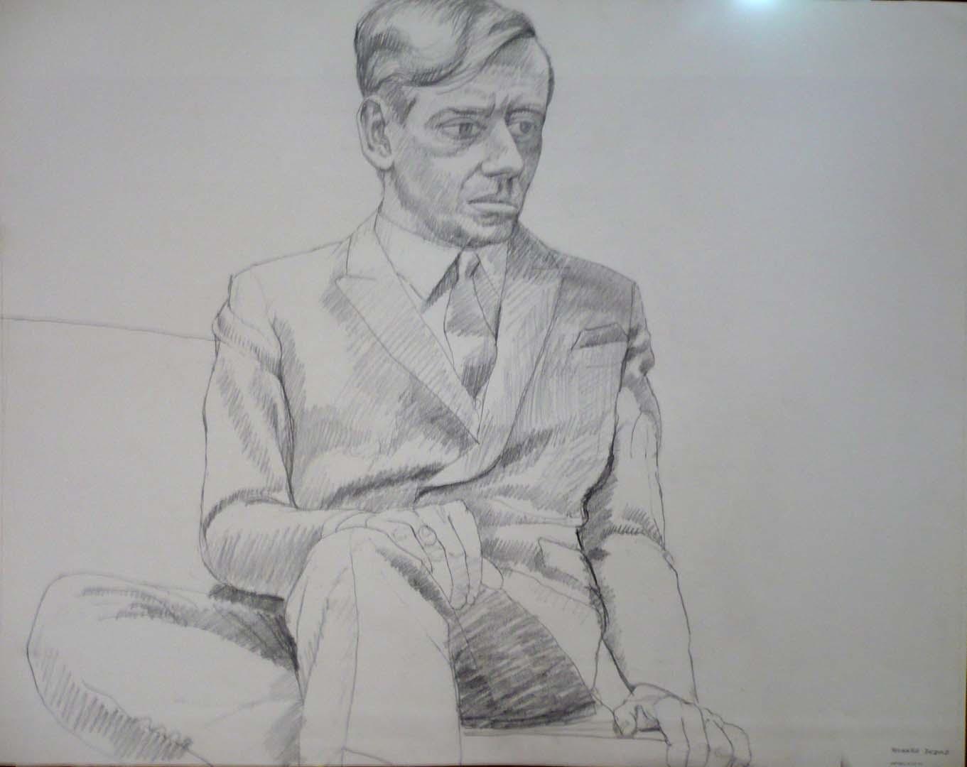 "1966 Richard Diebold 2 Pencil 22.5"" x 28.5"""