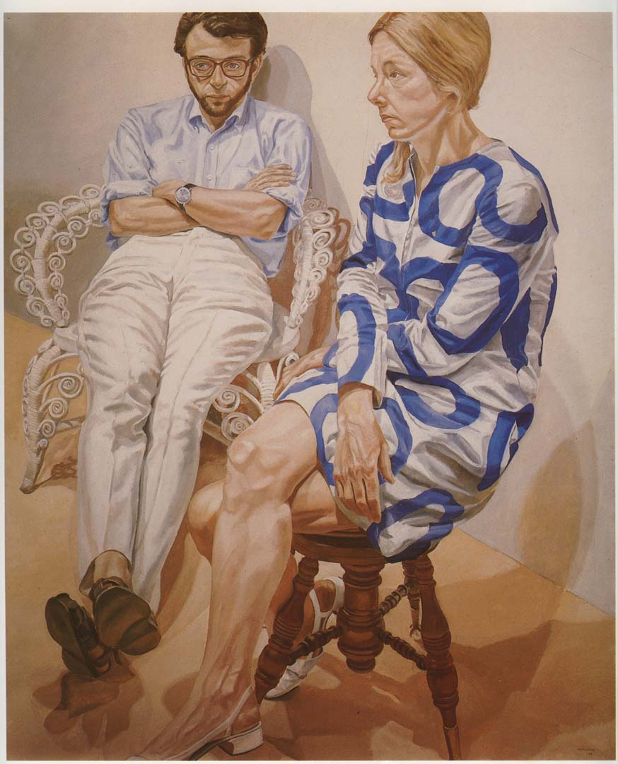 "1968 Portrait of Linda Nochlin & Richard Pommer Oil 72"" x 60"""