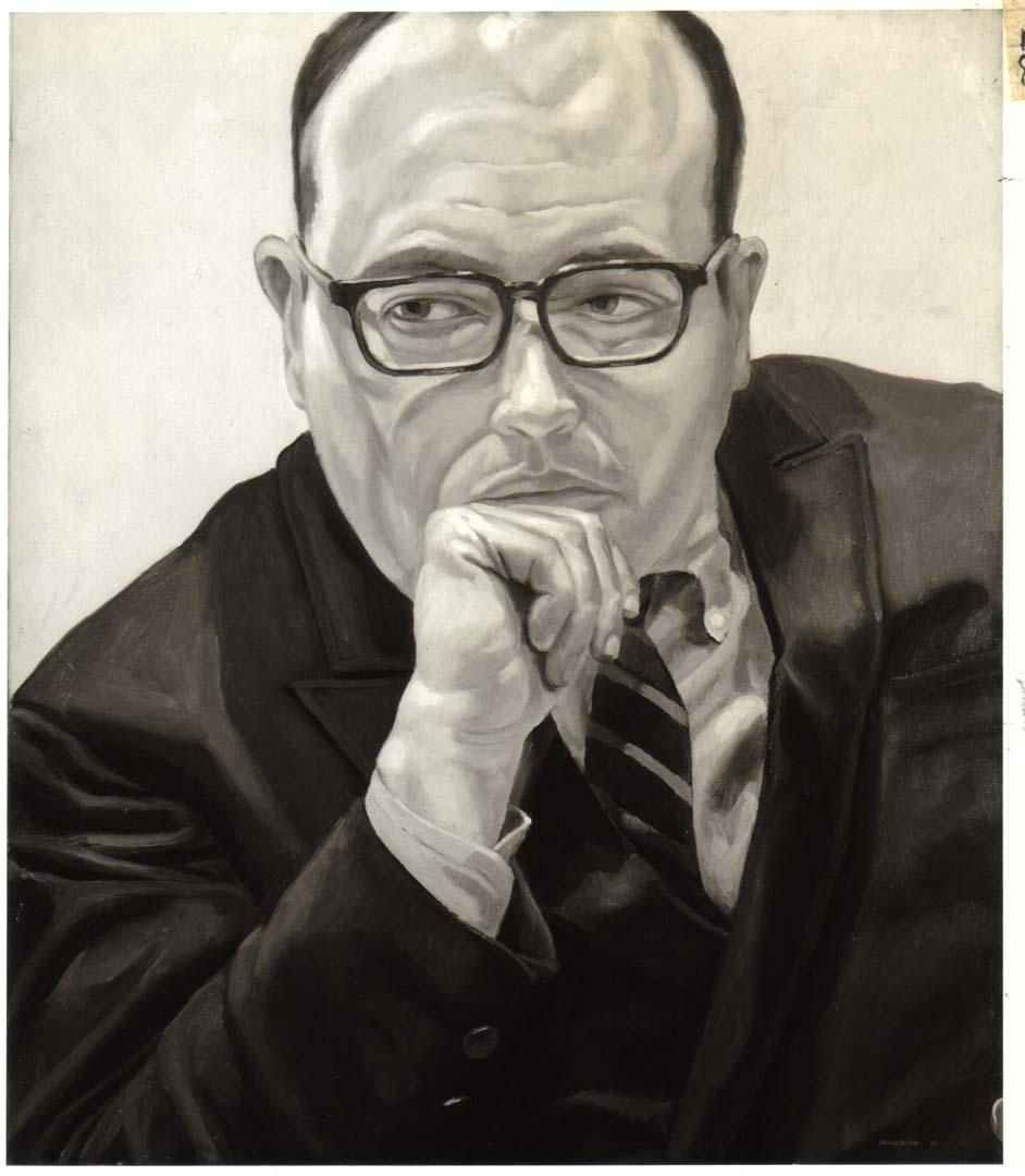 """1968 Portrait of Robert Schoelkopf Oil on canvas 26"""" x 22"""""""