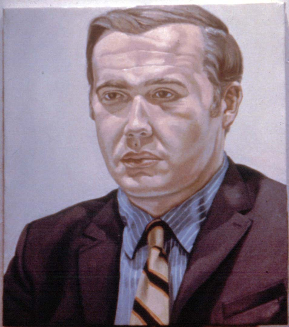 "1969 Portrait of Dr. Kurt Gitter Oil on canvas 29.5"" x 25.5"""