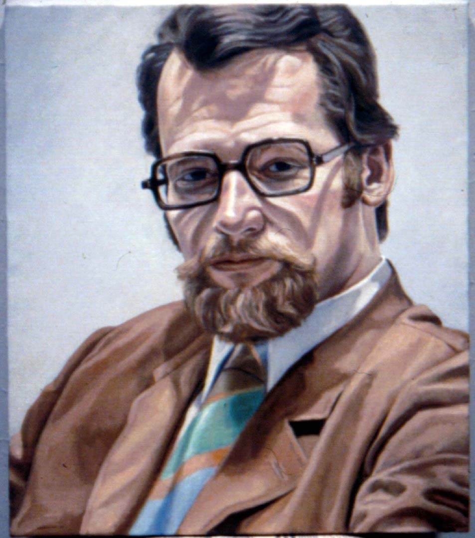 "1969 Portrait of Edward Blackhoff Oil on canvas 24"" x 18"""