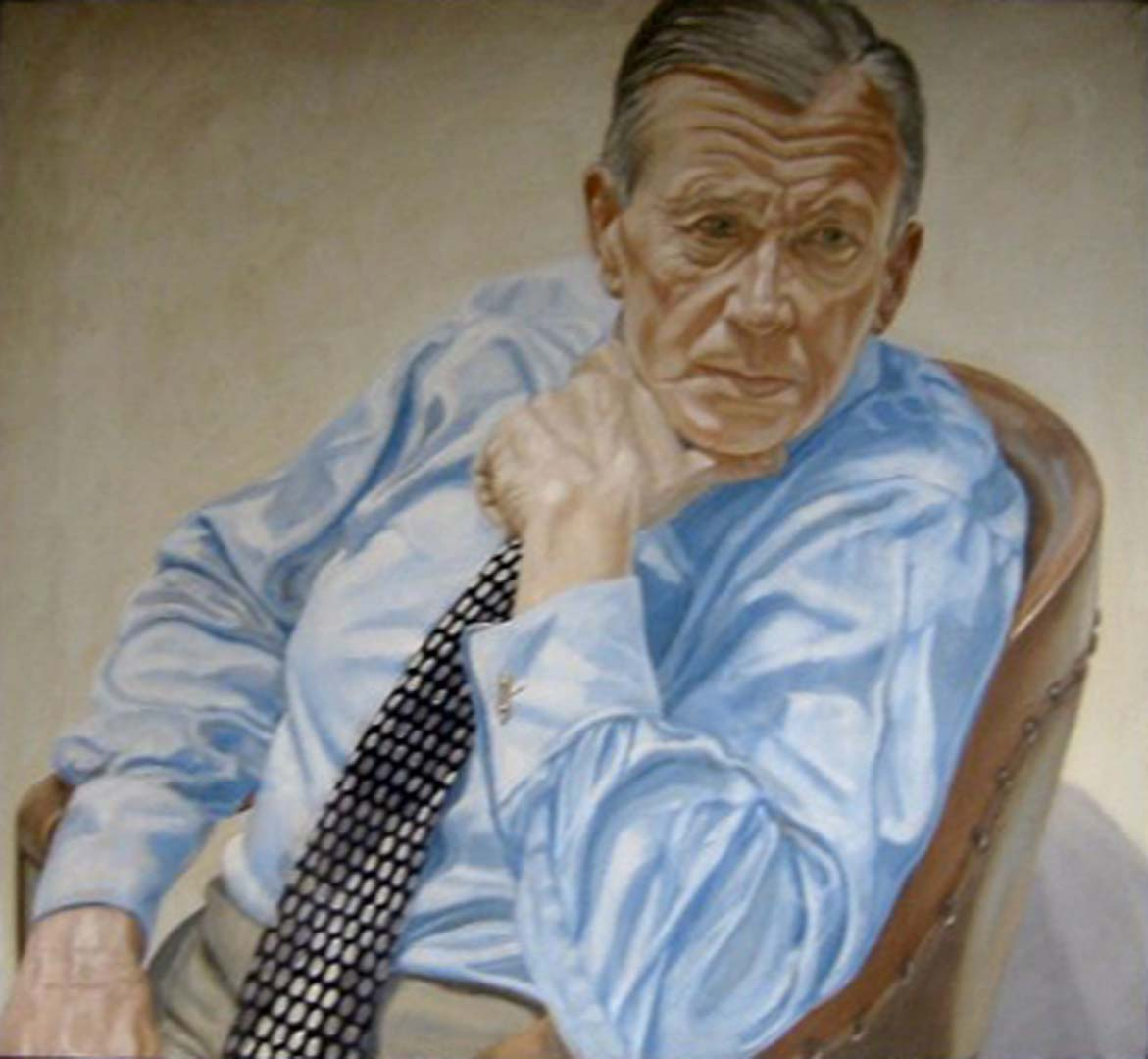 "1969 Portrait of Herbert Levine Oil on canvas 36"" x 40"""