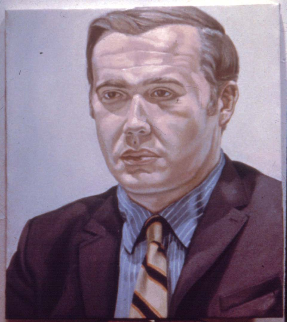 1969 Portrait of Kurt Gitter Oil 29.5 x 25.5
