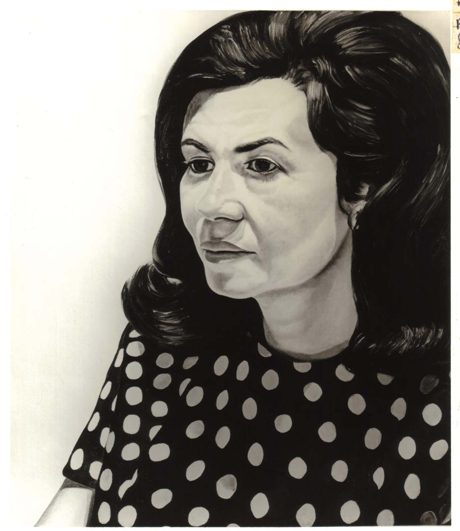 1970 Portrait of Donna Schneier Oil on canvas 30 x 26