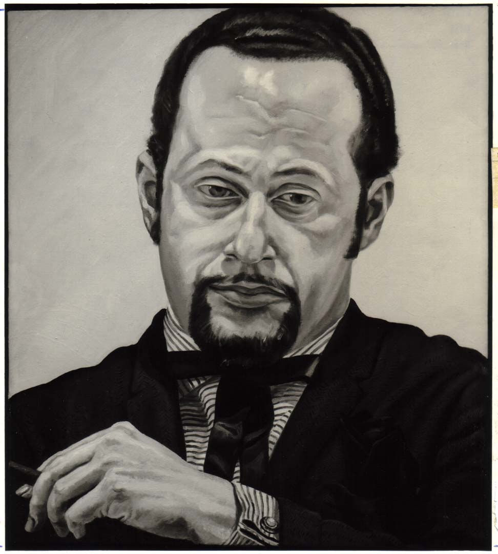 "1970 Portrait of Jerome Eisenberg Oil on canvas 25"" x 22"""