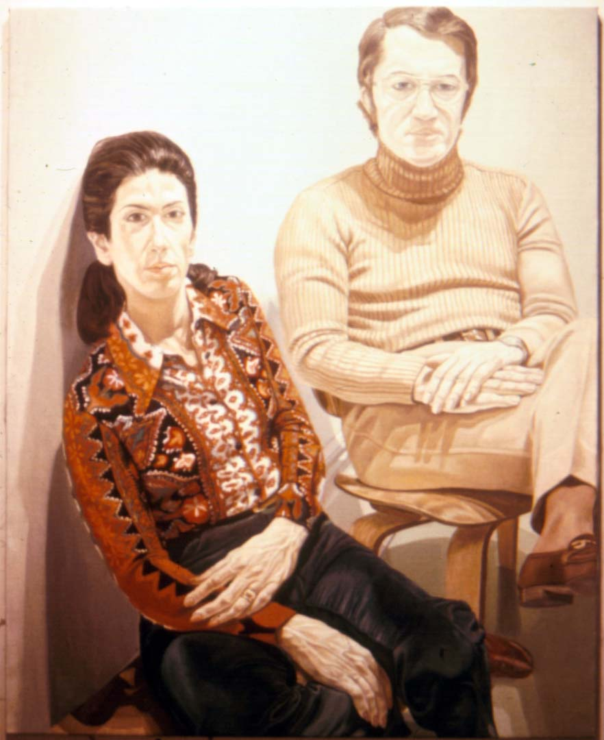"1972 Portrait of Mr & Mrs Stanley Westreich Oil 60"" x 48"""