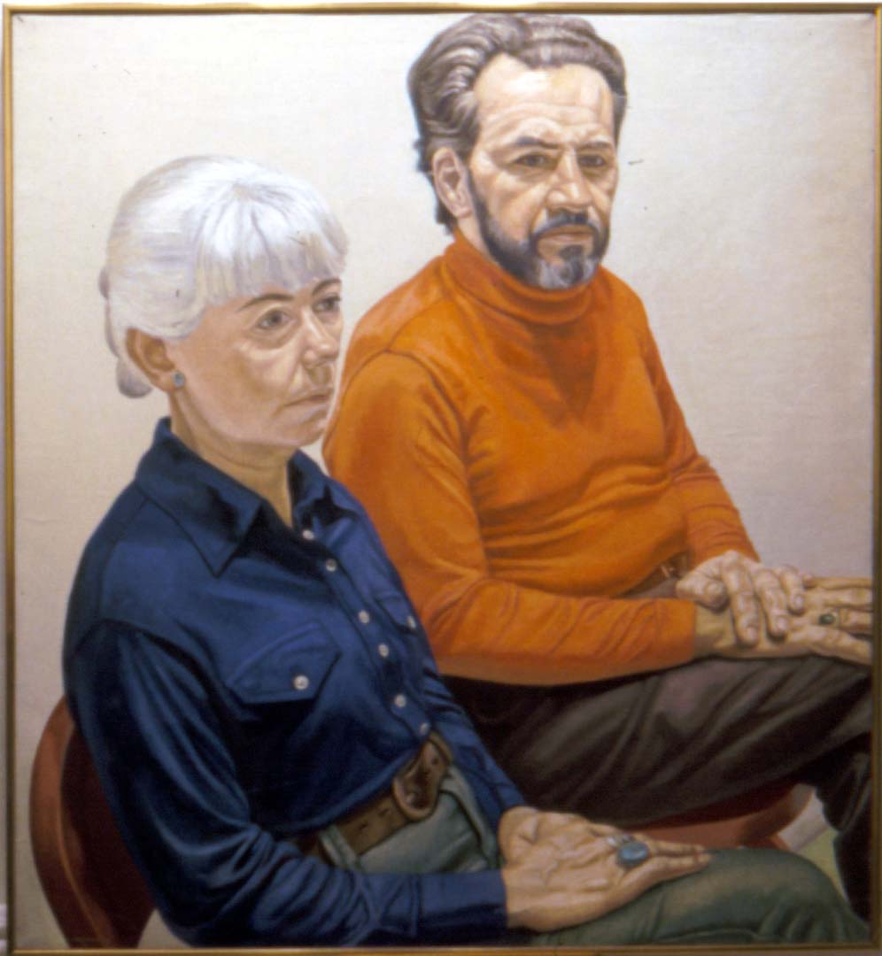"1973 Portrait of Gloria & Richard Miller Oil on canvas 44"" x 40"""