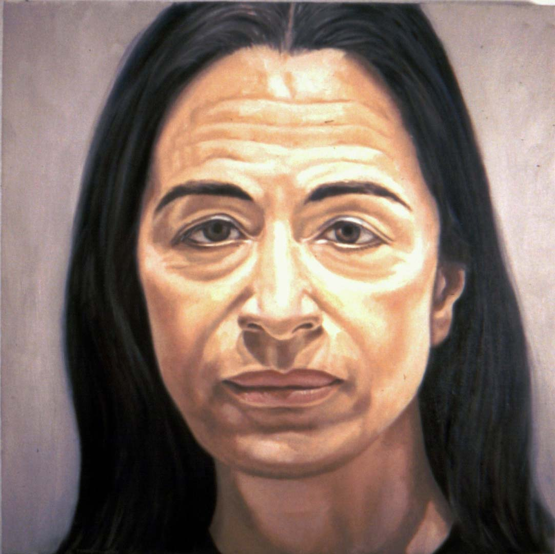 "1974 Portrait of Ada Katz Oil 16"" x 16"""
