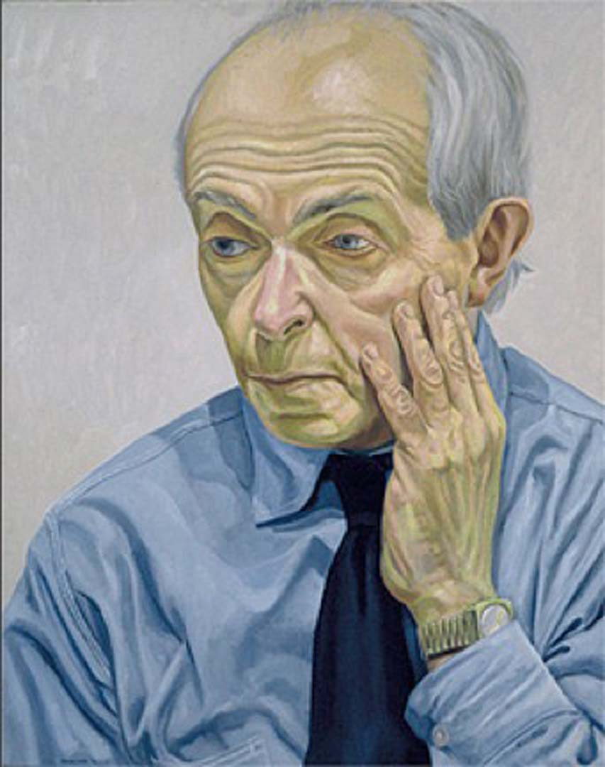"""1974 Portrait of Raphael Soyer Oil on canvas 30"""" x 24"""""""