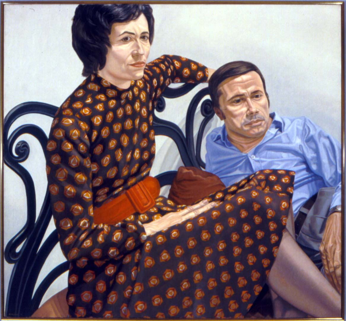 "1975 Portrait of Nina & Martin Sweet Oil 44"" x 48"""