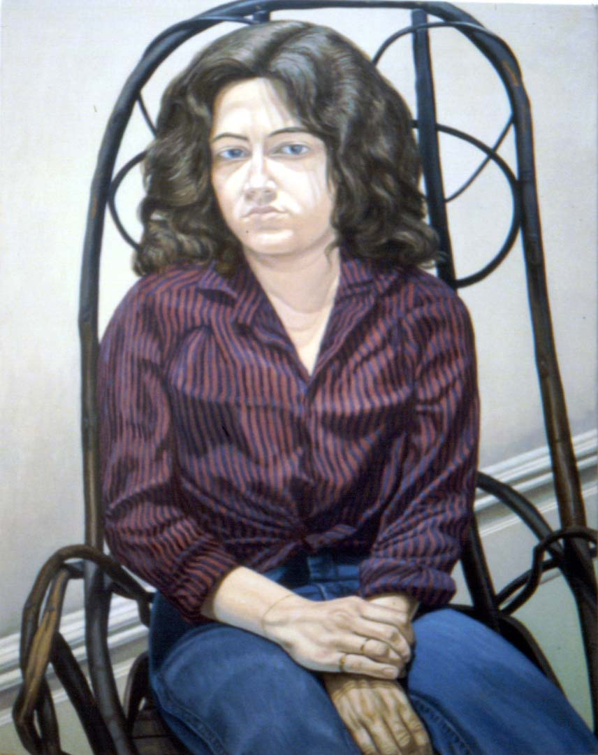 "1980 Portrait of Cathy Melzer Oil 46"" x 36"""