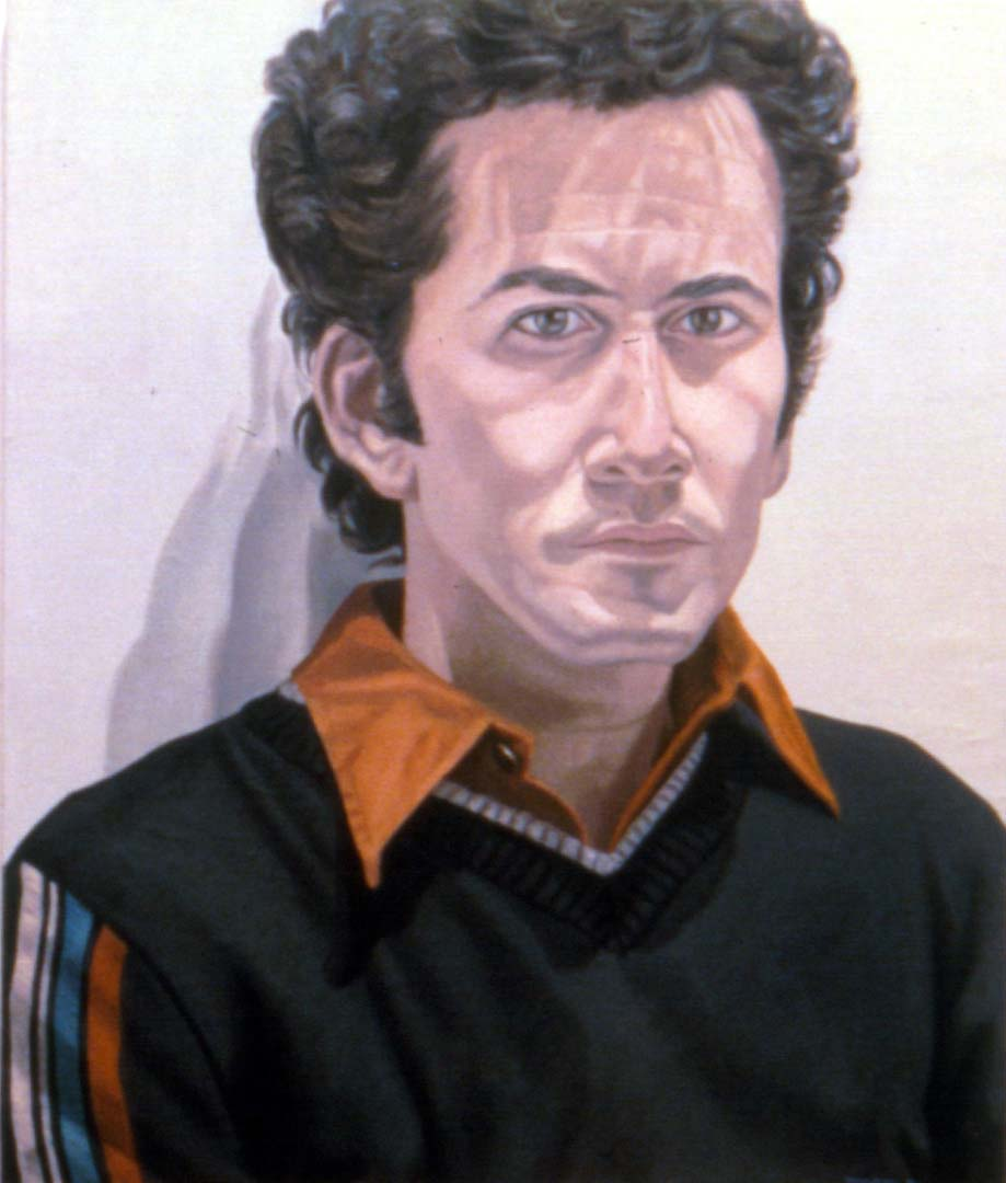"1980 Portrait of James Aronson Oil 29.75"" x 25"""