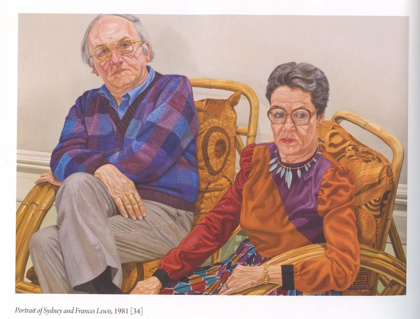 """1980 Portrait of Sydney & Frances Lewis Oil on canvas 60"""" x 84"""""""