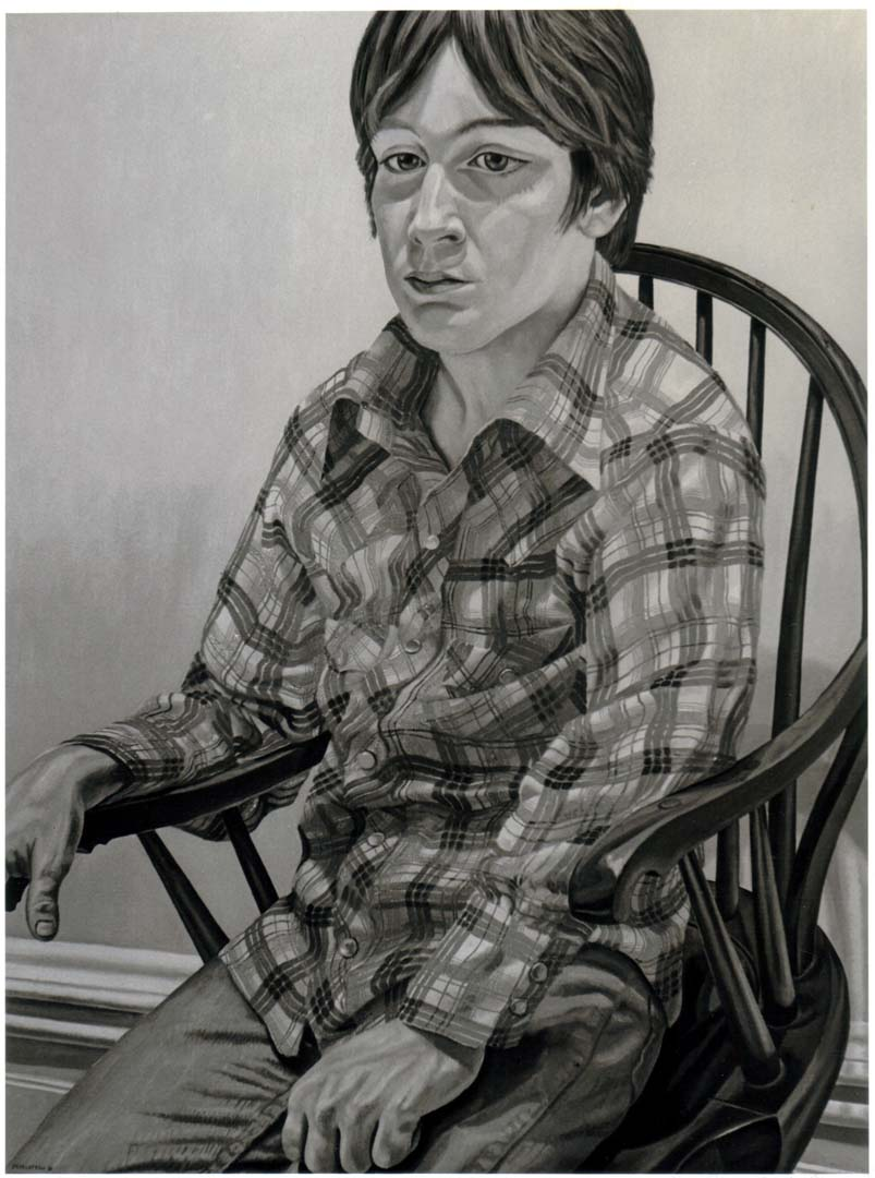 "1981 Portrait of Steven Melzer Oil on canvas 40"" x 24"""