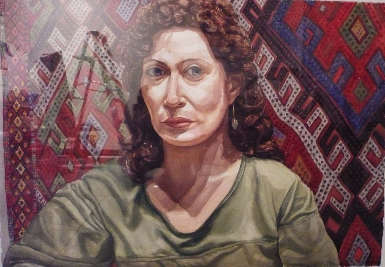 "1984 Julia Pearlstein Watercolor 29.5"" x 41.75"""