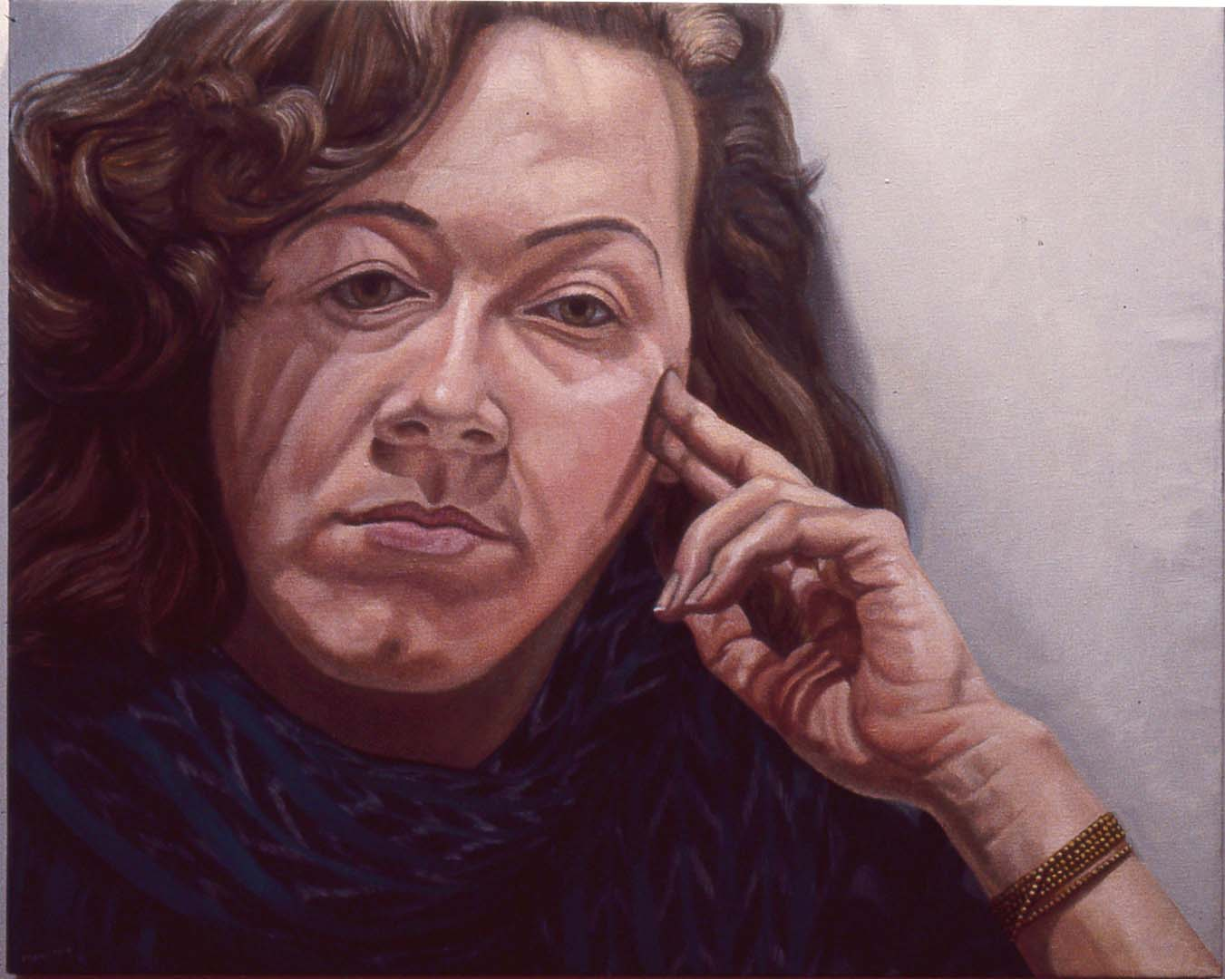 "1984 Portrait of Jamie Lustberg Oil 24"" x 30"""
