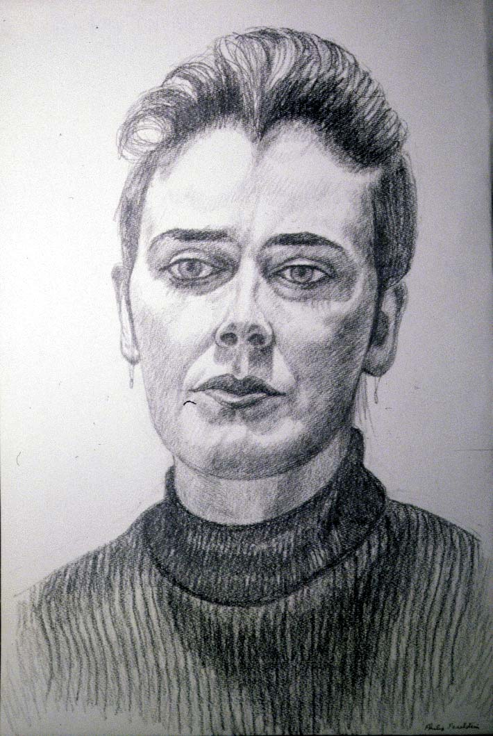1986 Portrait of Christine Pencil Dimensions Unknown