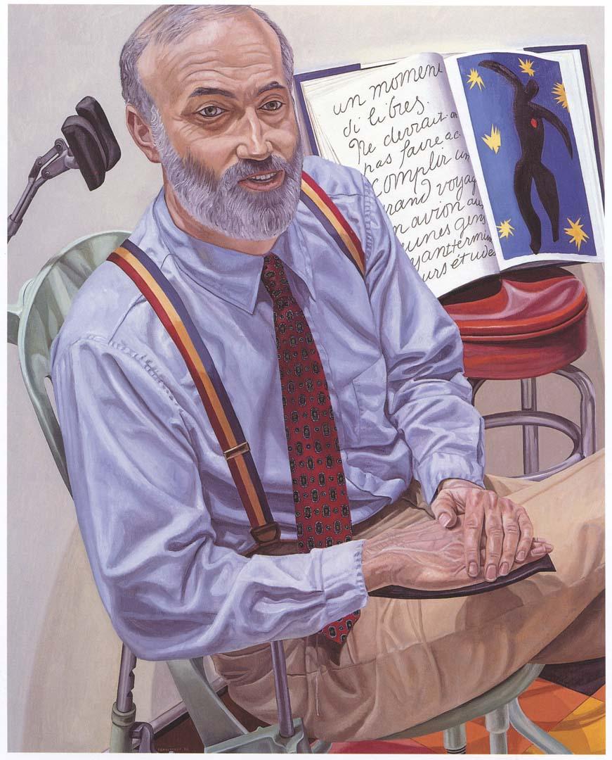 "1988 Portrait of Dr. Lewis Dubroff Oil on canvas 60"" x 48"""