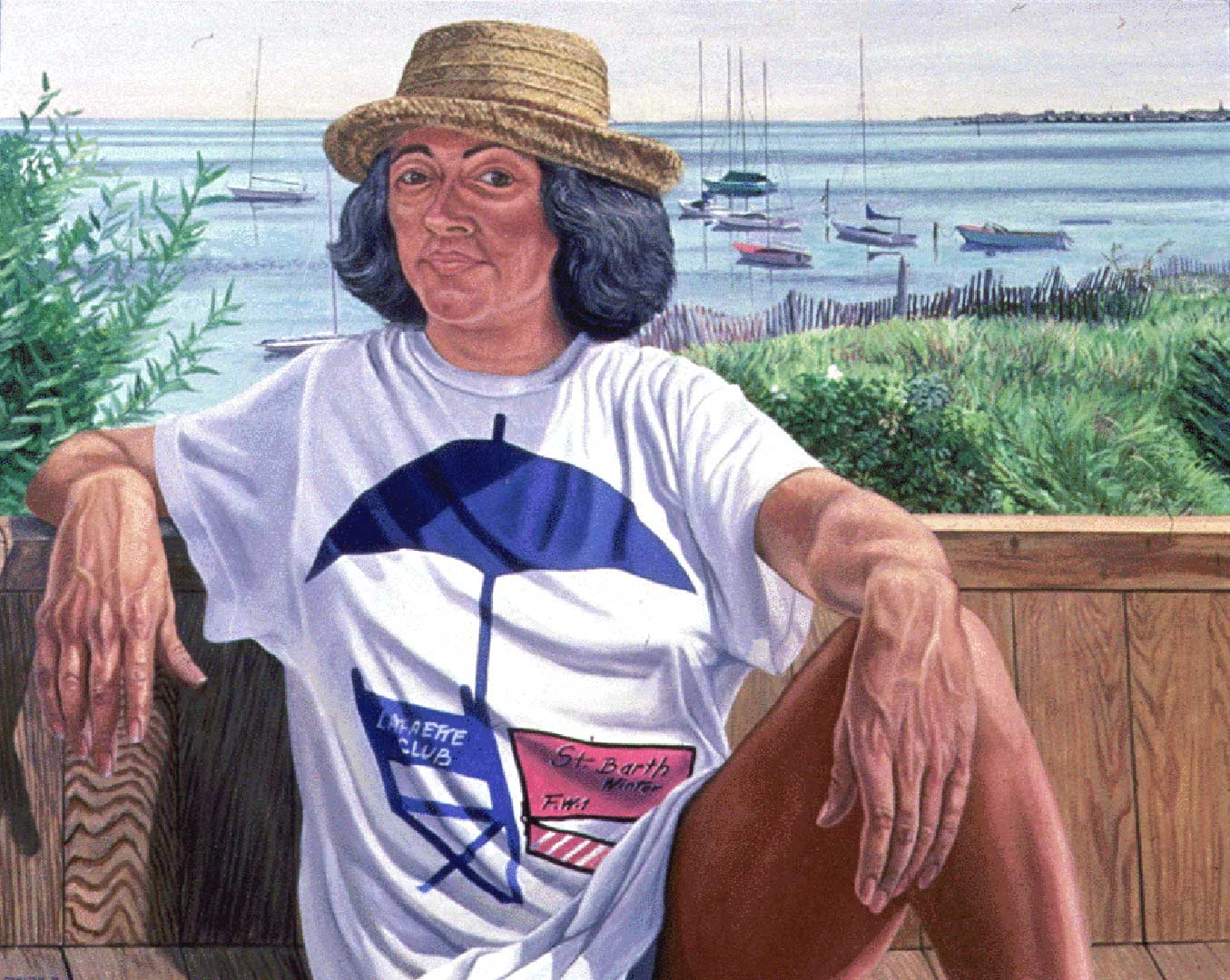 "1988 Portrait of Lucy Suarez Oil 48"" x 60"""