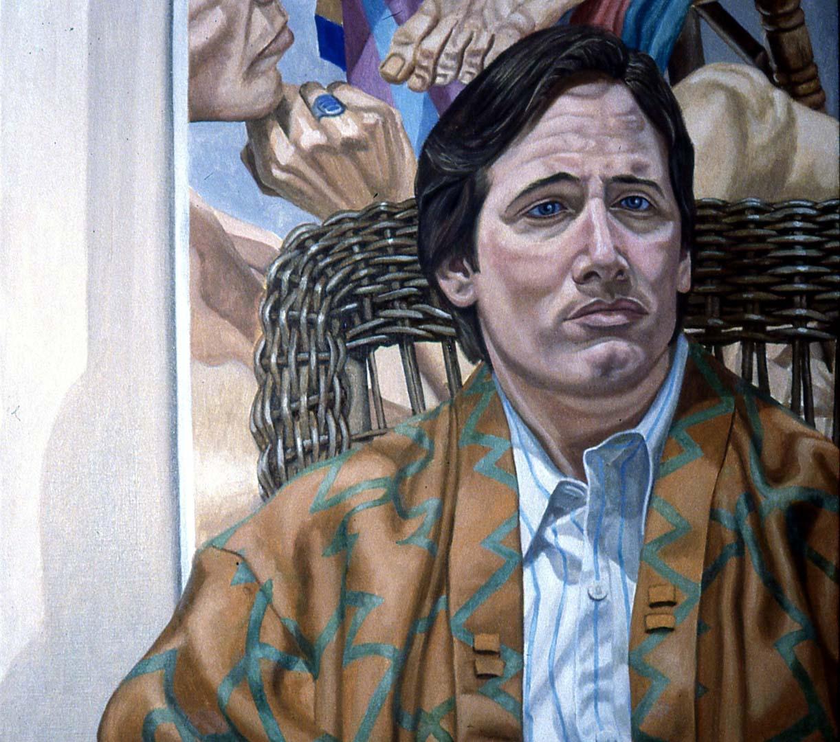 1988 Portrait of Tom Corey Oil on canvas 30 x 28