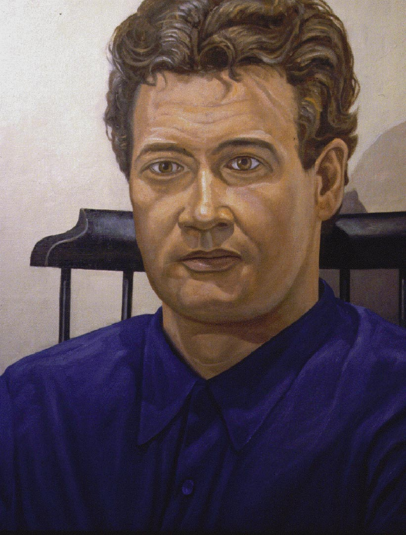 "1995 Portrait of John Cheim Oil 30"" x 24"""